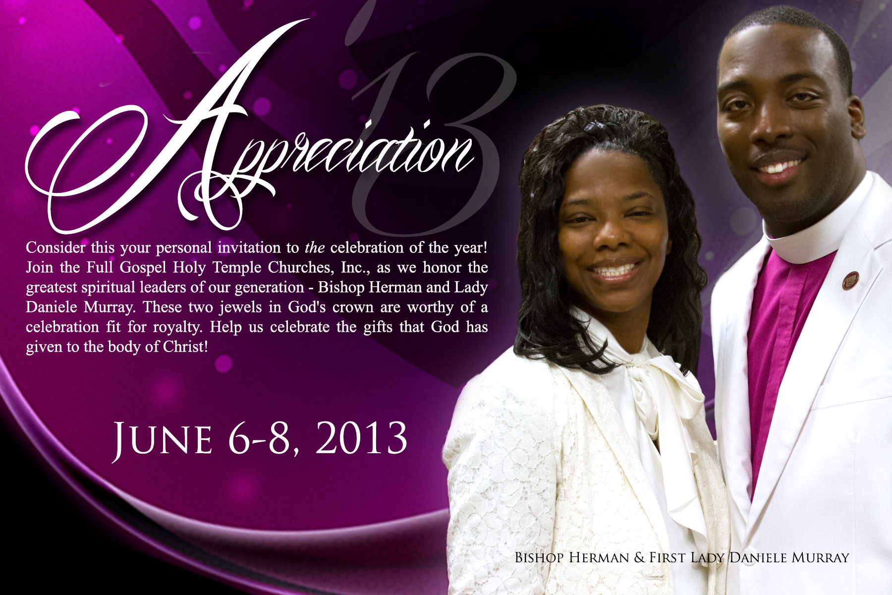 Pastor and Wife Appreciation Programs